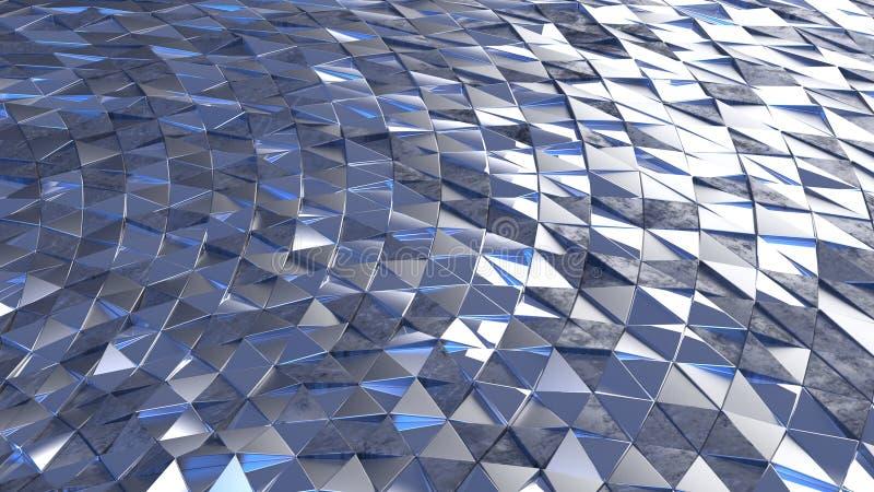 3D Геометрическая абстрактная фон стоковая фотография rf