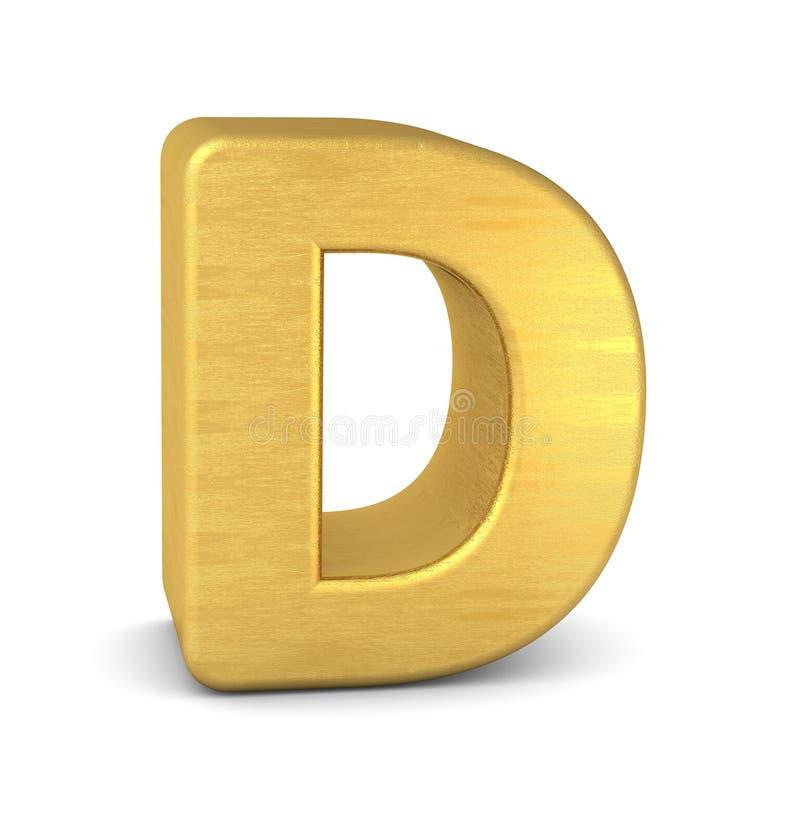 3d золото письма d бесплатная иллюстрация
