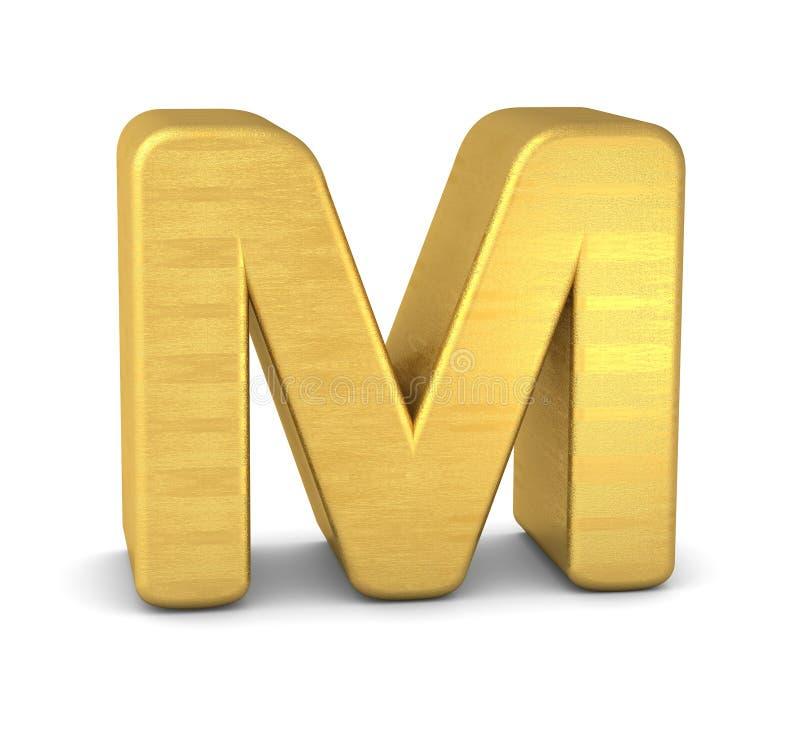 3d золото письма m бесплатная иллюстрация