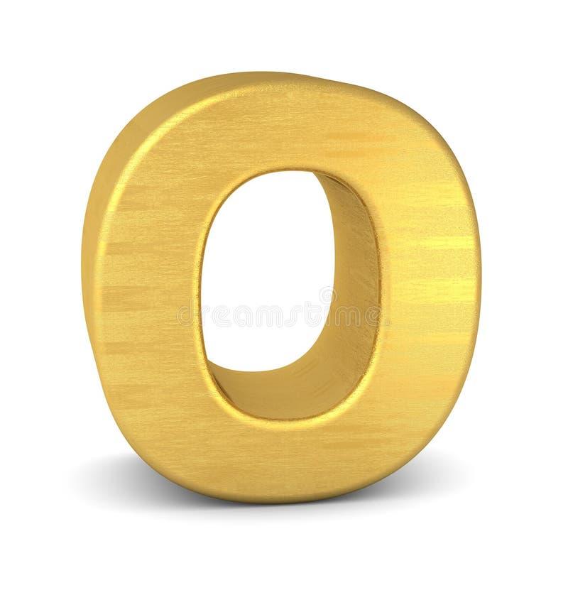 3d золото письма o иллюстрация вектора