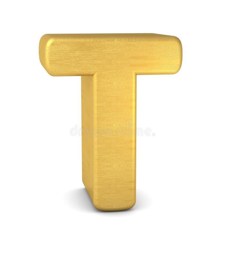 3d золото письма t бесплатная иллюстрация
