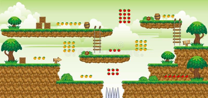 2D игра 40 платформы Tileset стоковое изображение rf