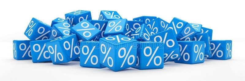 3d - кубы процентов - синь бесплатная иллюстрация