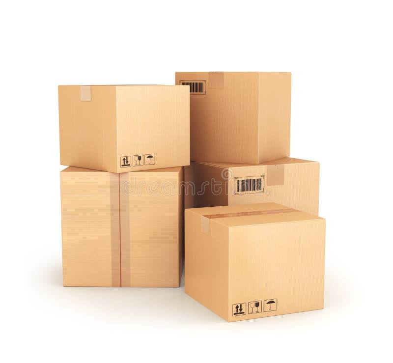 3d кладет изображение в коробку произведенное картоном бесплатная иллюстрация