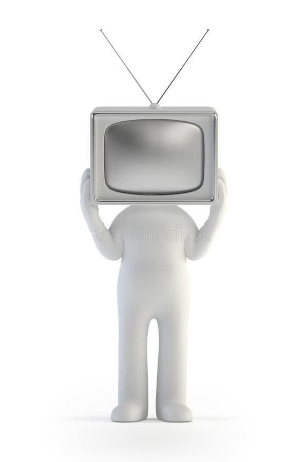 3d малые люди - человек ТВ иллюстрация штока