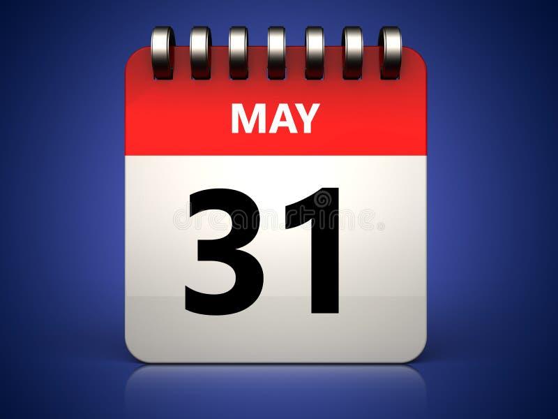 3d 31 может calendar иллюстрация штока