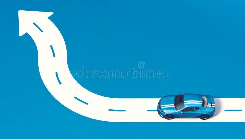 3D перевод - родовой автомобиль концепции иллюстрация штока