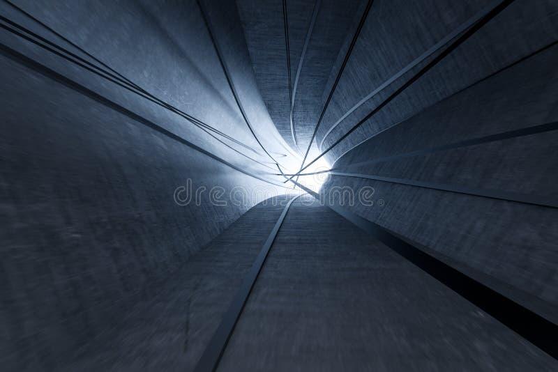 3d перевод, темный тоннель наук-небылицы, темная предпосылка иллюстрация штока