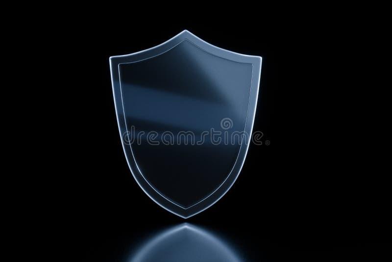 3d перевод, экран обороны с технологической предпосылкой иллюстрация штока