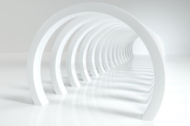 3d перевод, яркий тоннель наук-небылицы, яркая предпосылка иллюстрация штока