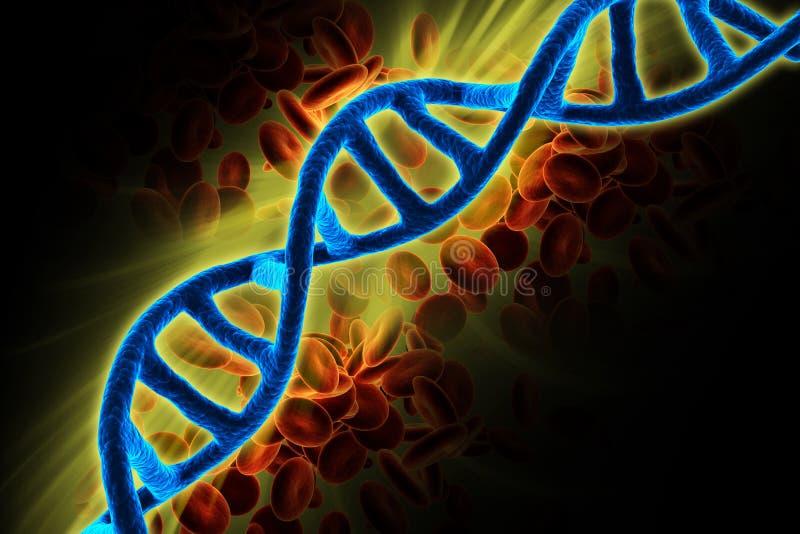 3d представило ДНК изолировало на предпосылке цвета стоковое изображение rf