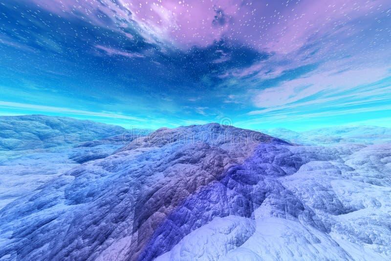 3D представило иллюстрацию чужеземца Worldr иллюстрация вектора