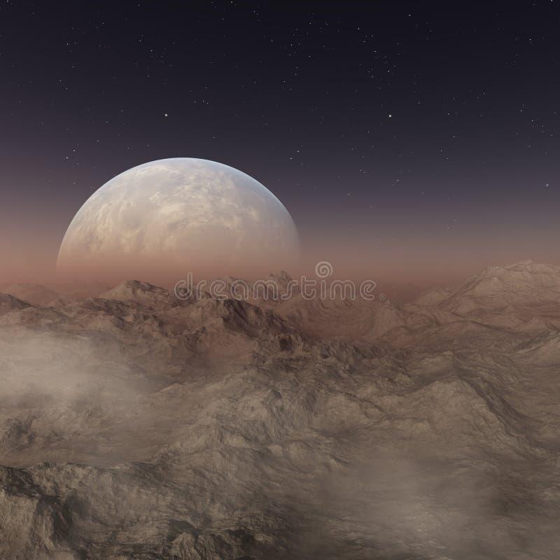3d представило искусство космоса: Планета чужеземца бесплатная иллюстрация