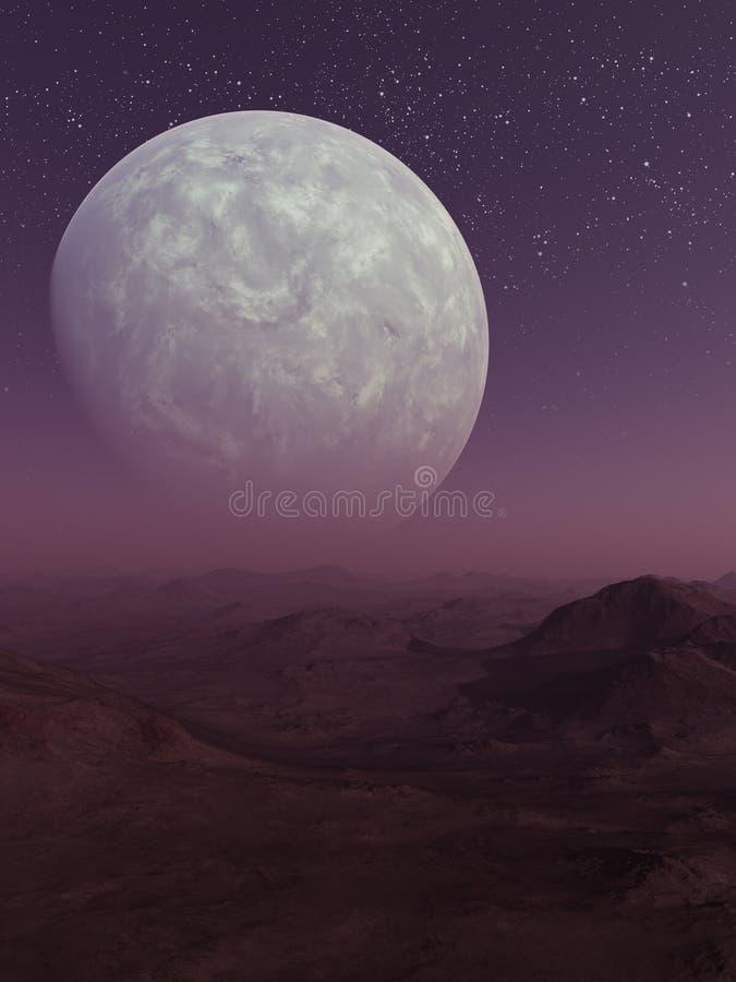 3d представило искусство космоса: Планета чужеземца стоковые фотографии rf