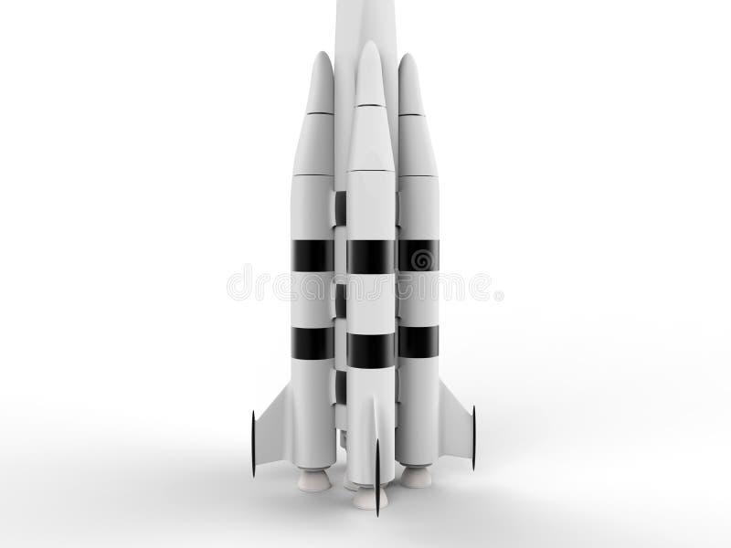3D представляют - детальную ракету космоса бесплатная иллюстрация