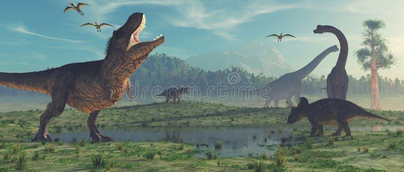3d представляют динозавра иллюстрация штока