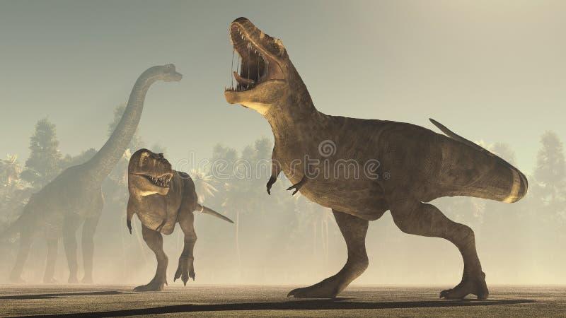 3d представляют динозавра бесплатная иллюстрация