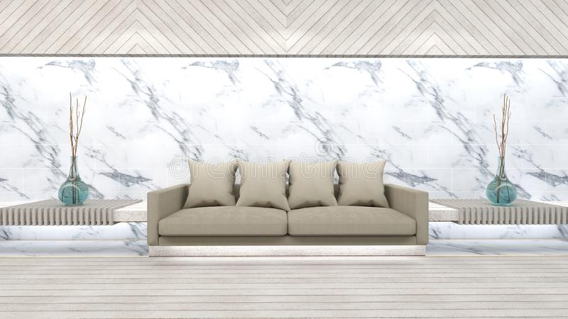 3d представляют живущей комнаты иллюстрация штока