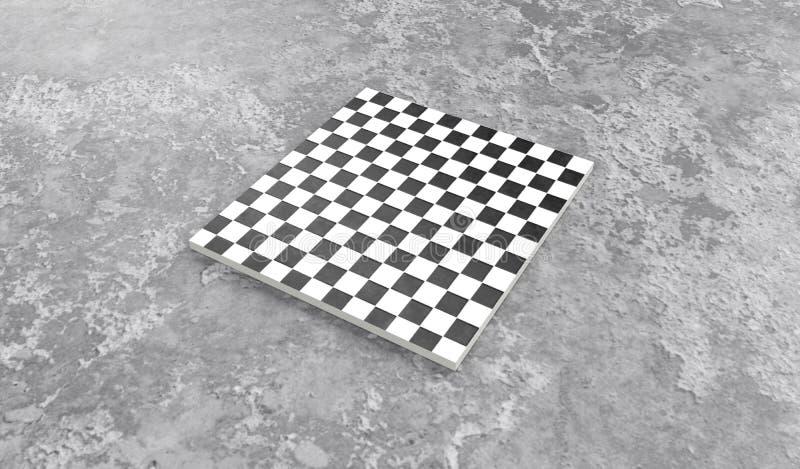 3d представляют квадратных плиток мостовой в сером каменном бетоне бесплатная иллюстрация