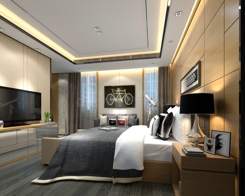 3d представляют комнаты роскошной гостиницы бесплатная иллюстрация