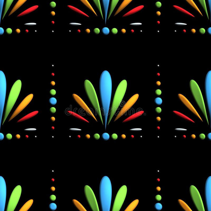 3D представляют пластичную плитку цветка предпосылки иллюстрация штока