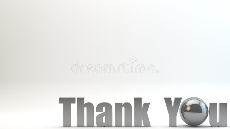 3D представляют текст благодарят вас предпосылка иллюстрация вектора