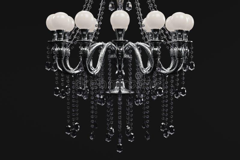 3d представляют хрустальной люстры бесплатная иллюстрация