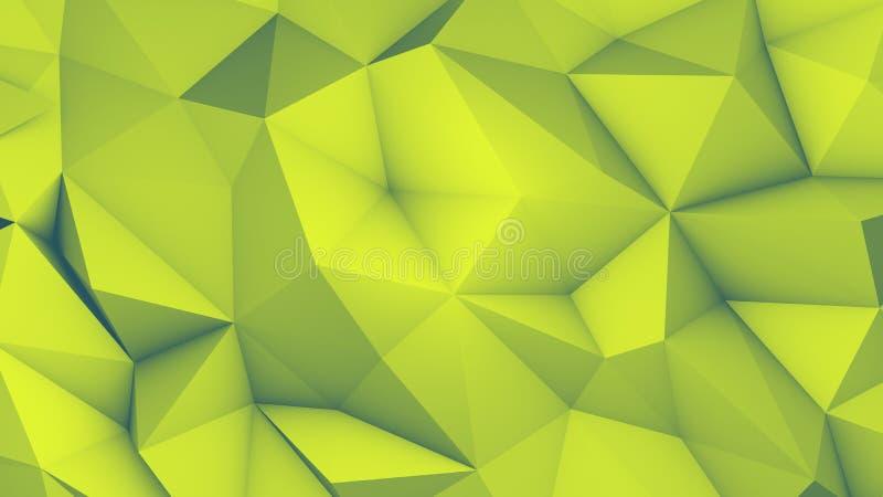 3D представляют illustrationVolumetric геометрическую картину иллюстрация штока