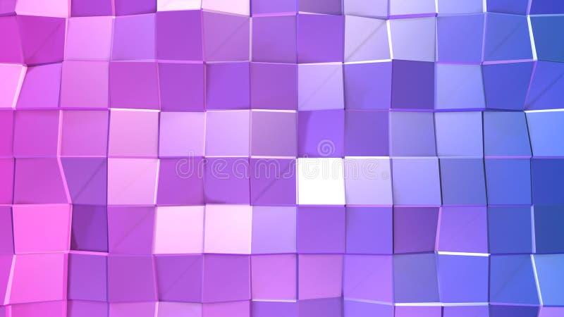 3d представляя абстрактную геометрическую предпосылку с современными цветами градиента в низком поли стиле поверхность 3d с голуб иллюстрация штока