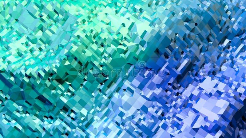 3d представляя абстрактную геометрическую предпосылку с современными цветами градиента в низком поли стиле поверхность 3d с зелен иллюстрация вектора