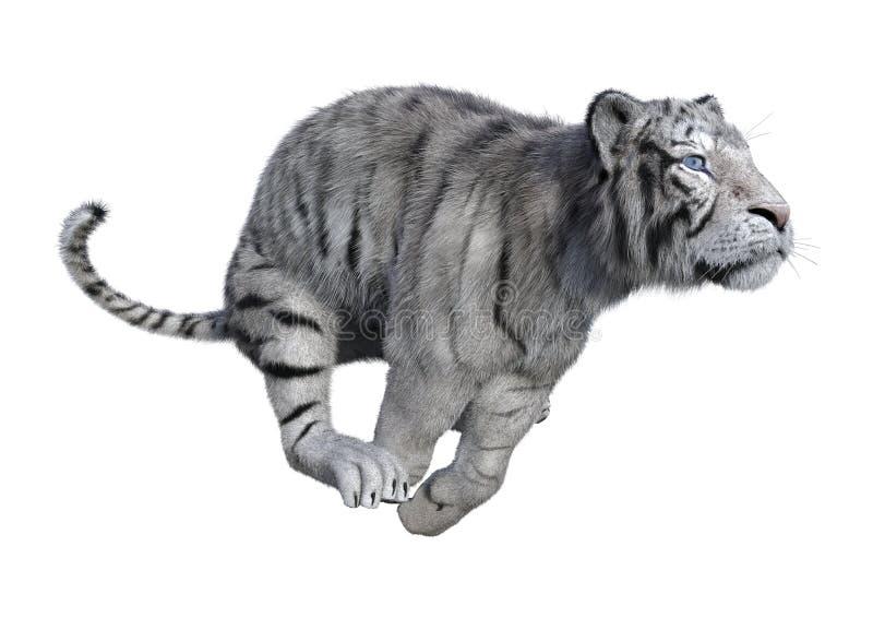 3D представляя белого тигра на белизне стоковое фото