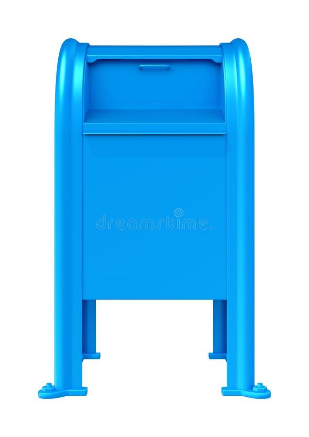 3D представляя голубой Postbox на белизне бесплатная иллюстрация