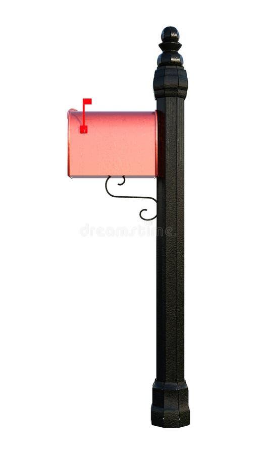3D представляя жилой почтовый ящик на белизне бесплатная иллюстрация