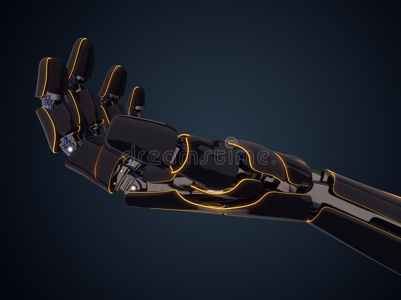 3D представляя робототехническую руку иллюстрация вектора