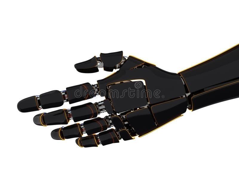 3D представляя робототехническую руку иллюстрация штока