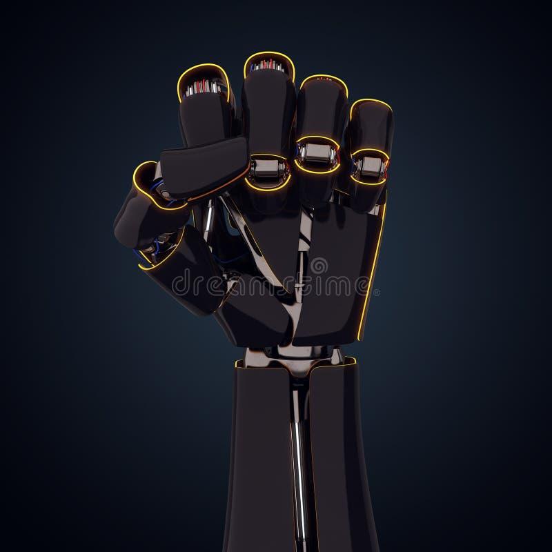 3D представляя робототехническую руку бесплатная иллюстрация