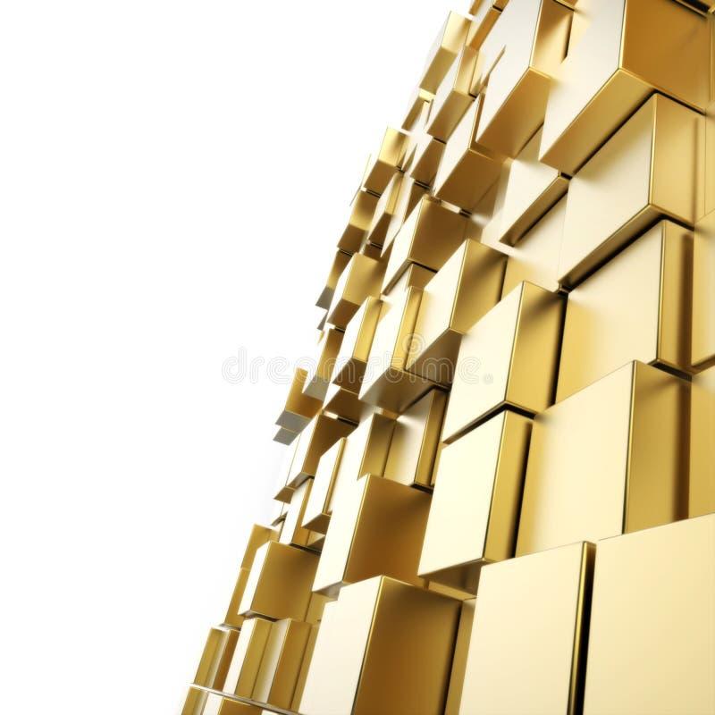 3d представило абстрактную кубическую предпосылку стоковое изображение rf