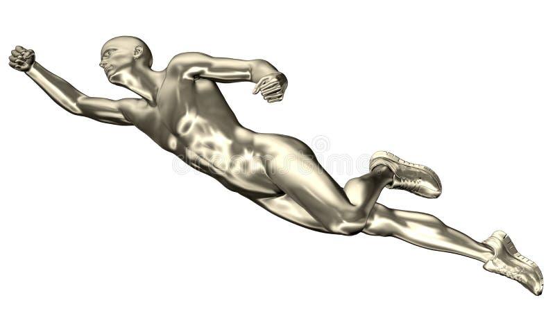 3d представило иллюстрацию мужского летания бесплатная иллюстрация