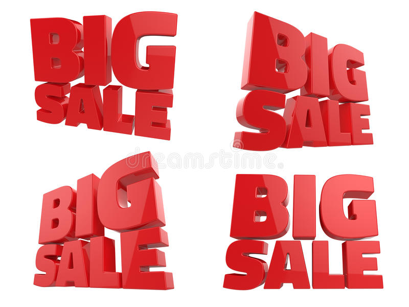 3D представляют большого слова продажи стоковые изображения