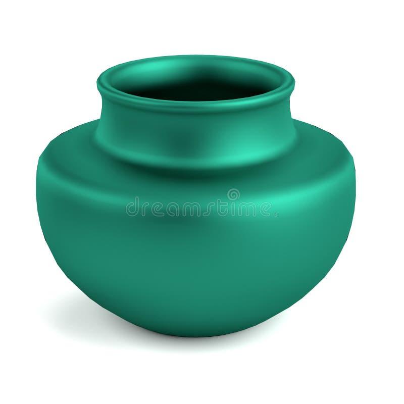 3d представляют вазы иллюстрация вектора