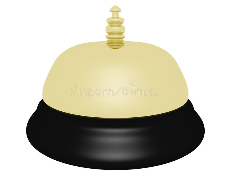 3d представляют гостиницы колокола золота иллюстрация штока