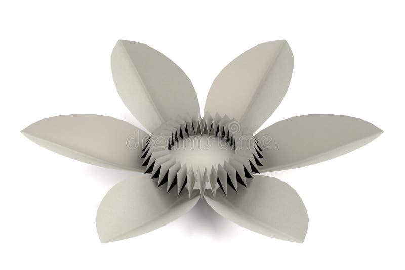 3d представляют завода origami иллюстрация штока