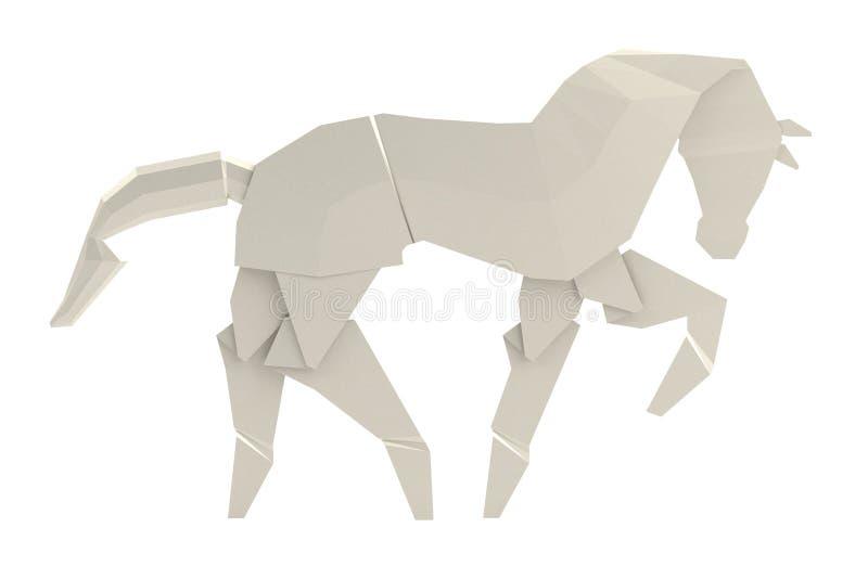 3d представляют игрушки origami иллюстрация штока