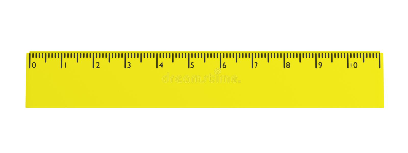 3d представляют инструмента канцелярских принадлежностей - правителя иллюстрация вектора