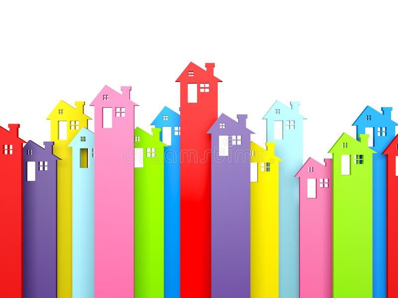 Стрелки символа свойства дома иллюстрация вектора