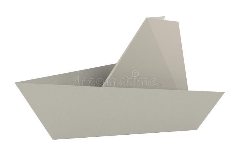 3d представляют корабля origami иллюстрация вектора