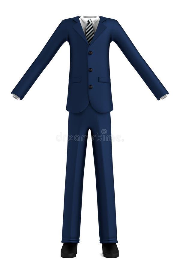 3d представляют костюма иллюстрация вектора