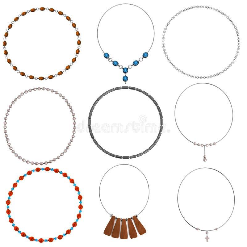3d представляют ожерелья бесплатная иллюстрация