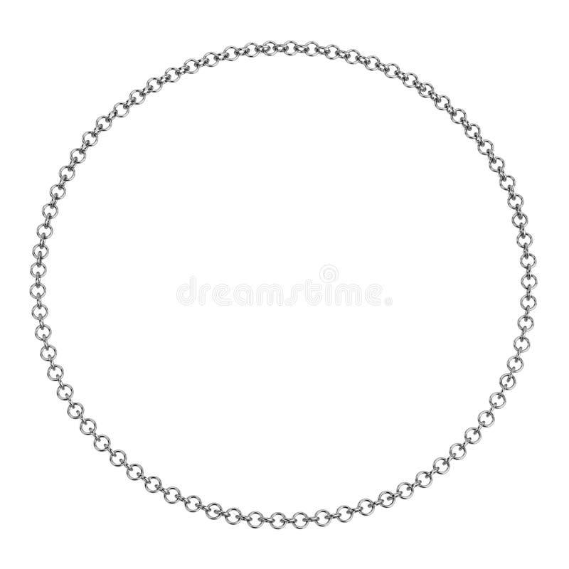 3d представляют ожерелья иллюстрация вектора