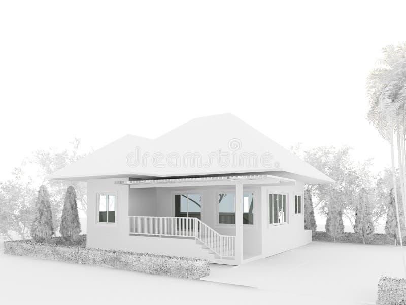 3d представляют дома иллюстрация штока